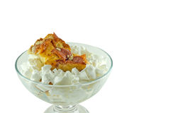 Domowej roboty chleba pudding Fotografia Royalty Free