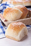 Domowej roboty chlebowe rolki Zdjęcie Royalty Free