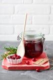 Domowej roboty Cranberry dżem zdjęcie stock