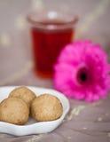 Domowej roboty cukierek z kwiatem Zdjęcia Royalty Free