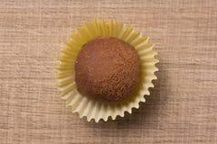 Domowej roboty czekoladowa trufla Mieszkanie nieatutowy projekt cukierek piłka Zdjęcie Royalty Free