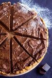 Domowej roboty czekoladowy cheesecake fotografia royalty free