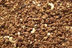 Domowej roboty czekoladowy granola, odgórny widok zdjęcie stock