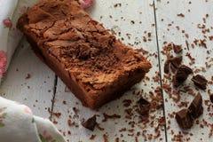 Domowej roboty Czekoladowy tort z kraciastą czekoladą Zdjęcia Stock