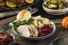 Domowej roboty dziękczynienia Turcja gość restauracji fotografia stock