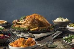 Domowej roboty dziękczynienia Turcja gość restauracji zdjęcia stock