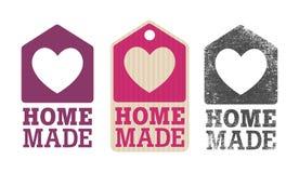 Domowej roboty etykietka ilustracji