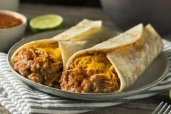 Domowej roboty fasoli i sera Burrito Fotografia Stock