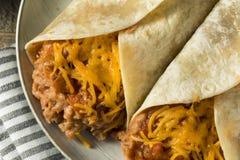 Domowej roboty fasoli i sera Burrito Obrazy Stock