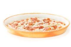 Domowej roboty faszerujący Cannelloni Cannelloni Di Magro z szpinakiem i ricotta Włoska kuchnia, biały tło Obrazy Royalty Free