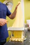 domowej roboty fettuccine fotografia stock
