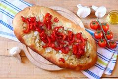 Domowej roboty foccacia chleb Zdjęcia Stock