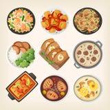 Domowej roboty gości restauracji naczynia ilustracji