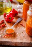 Domowej roboty gorącego chili i habanero chutney Fotografia Royalty Free