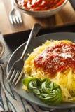 Domowej roboty Gotujący spaghetti kabaczka makaron Fotografia Stock