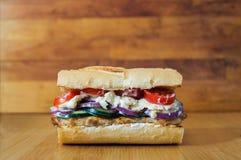 Domowej roboty grka stylu kanapka Zdjęcie Stock