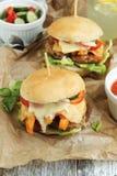 Domowej roboty hamburger Zdjęcia Royalty Free