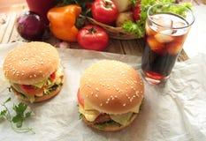 Domowej roboty hamburgery Zdjęcia Stock