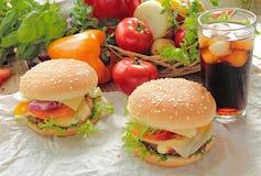 Domowej roboty hamburgery Fotografia Stock