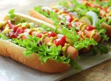 Domowej roboty hot dog Zdjęcie Royalty Free