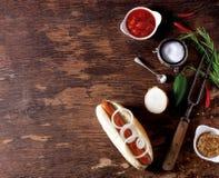 Domowej roboty hot dog Fotografia Royalty Free