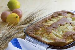 domowej roboty jabłczany tort zdjęcie stock