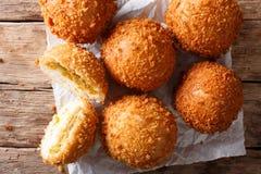 Domowej roboty Japoński chleb faszerował z curry'ego kare niecką makro- na papce Zdjęcie Stock
