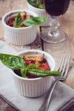 Domowej roboty jedzenie: piec na grillu warzywa Fotografia Royalty Free