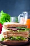 Domowej roboty kanapka z sałatką zdjęcie stock