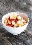 Domowej roboty kartoflana sałatka obraz stock