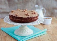 Domowej roboty kawa i orzech włoski zasychamy na stojaku Obraz Royalty Free