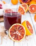 Domowej roboty Krwionośny sok pomarańczowy Zdjęcia Stock