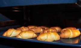 Domowej roboty kulebiaki na wypiekowym prześcieradle Obraz Stock