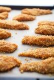Domowej roboty kurczaków palce zdjęcie royalty free