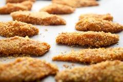 Domowej roboty kurczaków palce obrazy stock