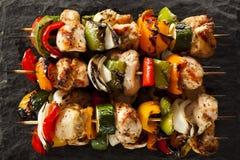 Domowej roboty kurczaka Shish kebaby zdjęcia stock