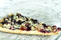 Domowej roboty śliwka tort Zdjęcie Royalty Free