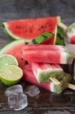 Domowej roboty lodów popsicles Obrazy Royalty Free