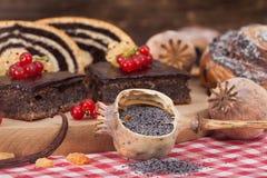 Domowej roboty makowego ziarna torty Zdjęcie Stock