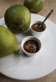 Domowej roboty mangowy chutney z mango Zdjęcie Stock