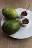 Domowej roboty mangowy chutney z mango Zdjęcia Stock
