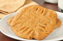 Domowej roboty maseł orzechowych ciastka Obraz Royalty Free