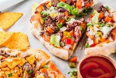 Domowej roboty Meksykańska Taco pizza Obraz Stock