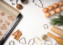 domowej roboty miodownik i ciastko kulinarny proces Obrazy Royalty Free