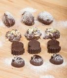 Domowej roboty naturalna czekoladowa trufla Obrazy Royalty Free