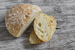 domowej roboty nieociosany chleb Zdjęcie Stock