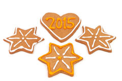 Domowej roboty nowy rok ciastka - 2015 liczb Zdjęcie Stock