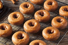 Domowej roboty Oszkleni jesieni bani Donuts Zdjęcia Stock