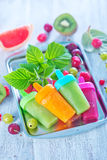 Domowej roboty owocowy lody Obraz Royalty Free