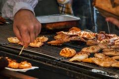 Domowej roboty piec na grillu wyśmienicie ser podczas Easter czasu zdjęcia royalty free